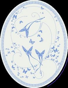 CО-196/2 Silver Butterflies (Butterflies)