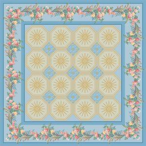 C-025/1 Floral Boudoir Blue (Paradise)