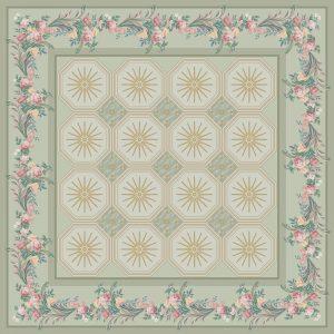 C-025/2 Floral Boudoir Green (Paradise)