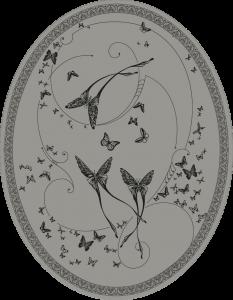 CО-196/6 Silver Butterflies (Butterflies)