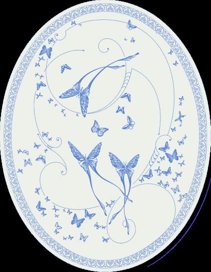 CО-196/2 Silver Butterflies