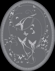 CО-196/3 Silver Butterflies (Butterflies)